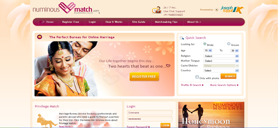 free matrimony website